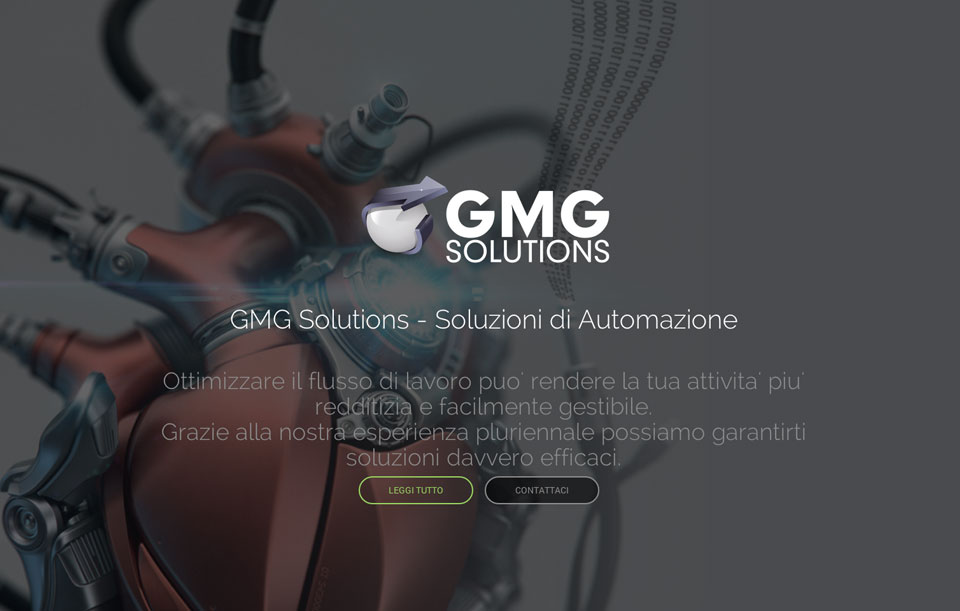 Gmg elettrotecnica landing page